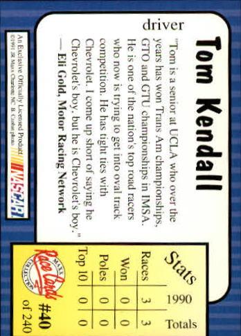 1991-Maxx-Auto-Racing-Cards-1-240-Rookies-A2705-You-Pick-10-FREE-SHIP thumbnail 81