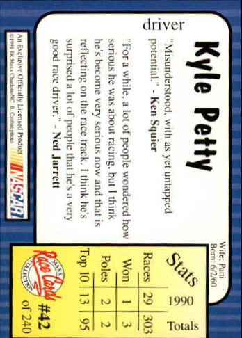 1991-Maxx-Auto-Racing-Cards-1-240-Rookies-A2705-You-Pick-10-FREE-SHIP thumbnail 85