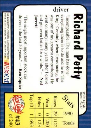 1991-Maxx-Auto-Racing-Cards-1-240-Rookies-A2705-You-Pick-10-FREE-SHIP thumbnail 87