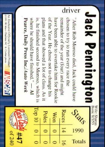 1991-Maxx-Auto-Racing-Cards-1-240-Rookies-A2705-You-Pick-10-FREE-SHIP thumbnail 95