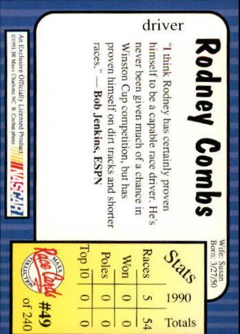 1991-Maxx-Auto-Racing-Cards-1-240-Rookies-A2705-You-Pick-10-FREE-SHIP thumbnail 99