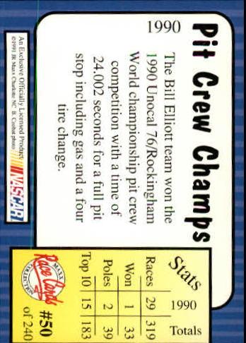 1991-Maxx-Auto-Racing-Cards-1-240-Rookies-A2705-You-Pick-10-FREE-SHIP thumbnail 101