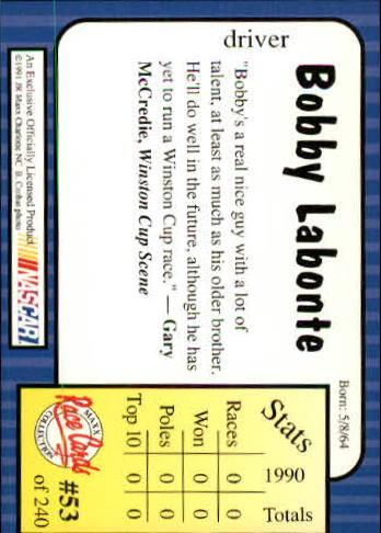 1991-Maxx-Auto-Racing-Cards-1-240-Rookies-A2705-You-Pick-10-FREE-SHIP thumbnail 107