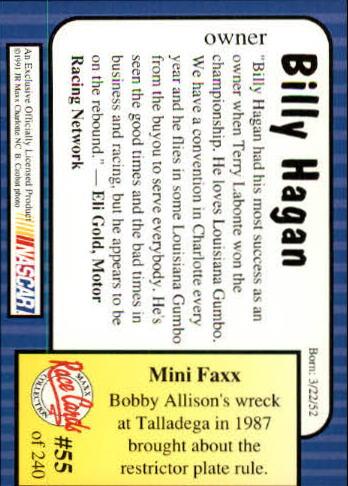 1991-Maxx-Auto-Racing-Cards-1-240-Rookies-A2705-You-Pick-10-FREE-SHIP thumbnail 111