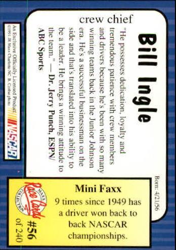 1991-Maxx-Auto-Racing-Cards-1-240-Rookies-A2705-You-Pick-10-FREE-SHIP thumbnail 113