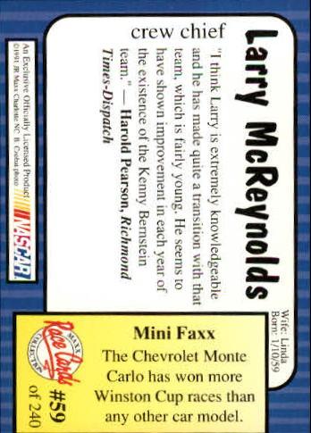 1991-Maxx-Auto-Racing-Cards-1-240-Rookies-A2705-You-Pick-10-FREE-SHIP thumbnail 119