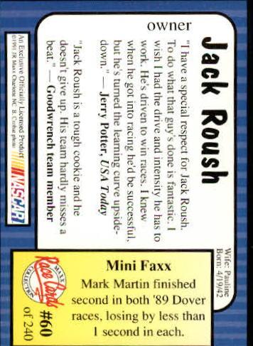 1991-Maxx-Auto-Racing-Cards-1-240-Rookies-A2705-You-Pick-10-FREE-SHIP thumbnail 121