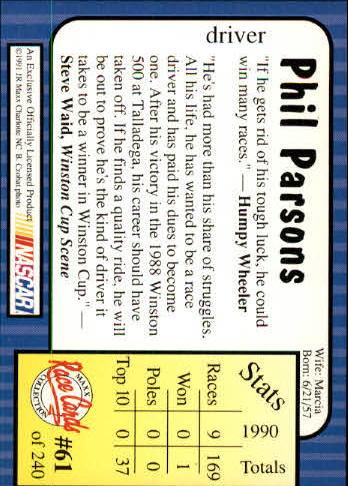 1991-Maxx-Auto-Racing-Cards-1-240-Rookies-A2705-You-Pick-10-FREE-SHIP thumbnail 123