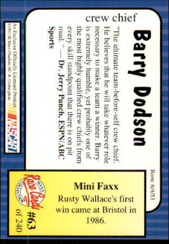 1991-Maxx-Auto-Racing-Cards-1-240-Rookies-A2705-You-Pick-10-FREE-SHIP thumbnail 127