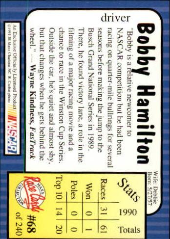 1991-Maxx-Auto-Racing-Cards-1-240-Rookies-A2705-You-Pick-10-FREE-SHIP thumbnail 137