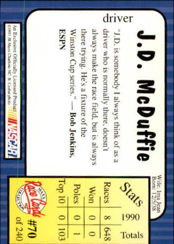 1991-Maxx-Auto-Racing-Cards-1-240-Rookies-A2705-You-Pick-10-FREE-SHIP thumbnail 141
