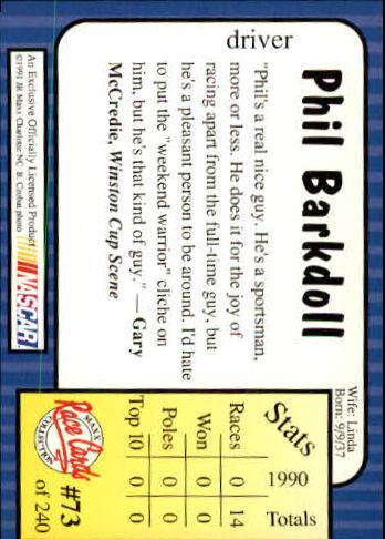 1991-Maxx-Auto-Racing-Cards-1-240-Rookies-A2705-You-Pick-10-FREE-SHIP thumbnail 147
