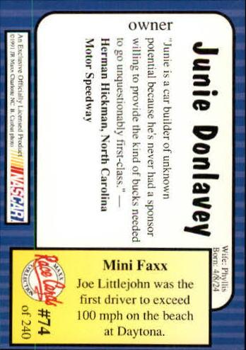 1991-Maxx-Auto-Racing-Cards-1-240-Rookies-A2705-You-Pick-10-FREE-SHIP thumbnail 149