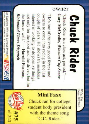 1991-Maxx-Auto-Racing-Cards-1-240-Rookies-A2705-You-Pick-10-FREE-SHIP thumbnail 151
