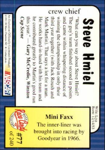 1991-Maxx-Auto-Racing-Cards-1-240-Rookies-A2705-You-Pick-10-FREE-SHIP thumbnail 155