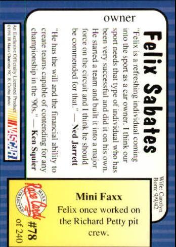 1991-Maxx-Auto-Racing-Cards-1-240-Rookies-A2705-You-Pick-10-FREE-SHIP thumbnail 157