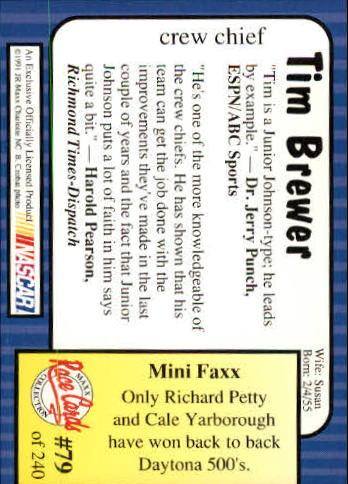 1991-Maxx-Auto-Racing-Cards-1-240-Rookies-A2705-You-Pick-10-FREE-SHIP thumbnail 159