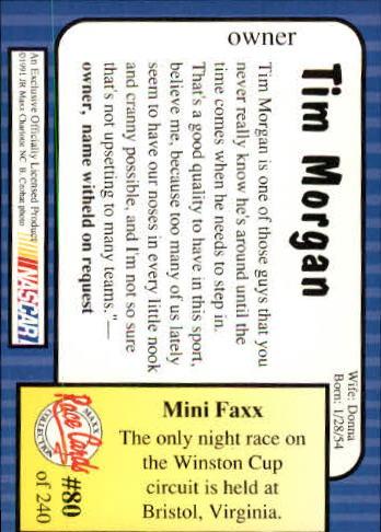1991-Maxx-Auto-Racing-Cards-1-240-Rookies-A2705-You-Pick-10-FREE-SHIP thumbnail 161