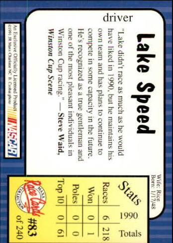 1991-Maxx-Auto-Racing-Cards-1-240-Rookies-A2705-You-Pick-10-FREE-SHIP thumbnail 167