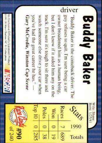 1991-Maxx-Auto-Racing-Cards-1-240-Rookies-A2705-You-Pick-10-FREE-SHIP thumbnail 181
