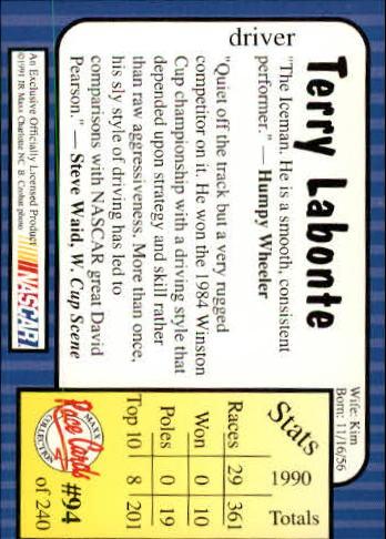 1991-Maxx-Auto-Racing-Cards-1-240-Rookies-A2705-You-Pick-10-FREE-SHIP thumbnail 189