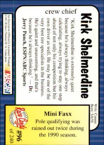 1991-Maxx-Auto-Racing-Cards-1-240-Rookies-A2705-You-Pick-10-FREE-SHIP thumbnail 193