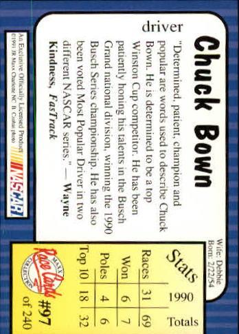 1991-Maxx-Auto-Racing-Cards-1-240-Rookies-A2705-You-Pick-10-FREE-SHIP thumbnail 195