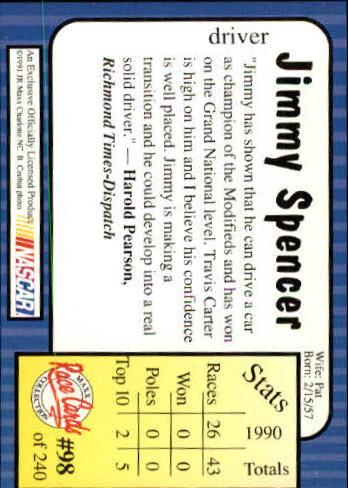 1991-Maxx-Auto-Racing-Cards-1-240-Rookies-A2705-You-Pick-10-FREE-SHIP thumbnail 197