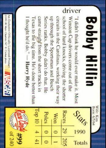 1991-Maxx-Auto-Racing-Cards-1-240-Rookies-A2705-You-Pick-10-FREE-SHIP thumbnail 199