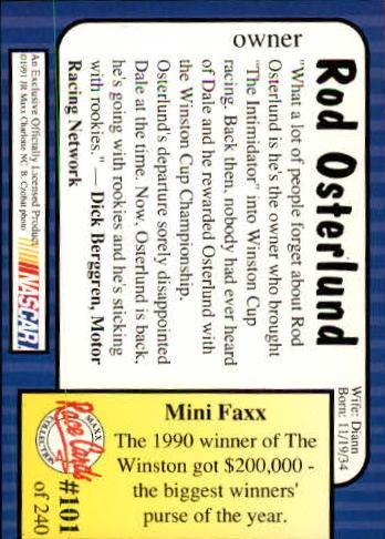1991-Maxx-Auto-Racing-Cards-1-240-Rookies-A2705-You-Pick-10-FREE-SHIP thumbnail 203