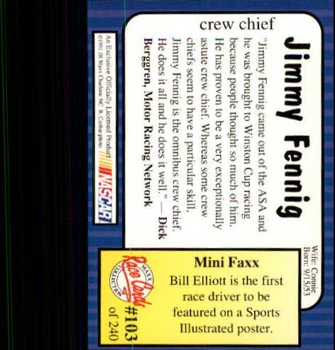 1991-Maxx-Auto-Racing-Cards-1-240-Rookies-A2705-You-Pick-10-FREE-SHIP thumbnail 207