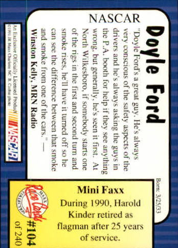 1991-Maxx-Auto-Racing-Cards-1-240-Rookies-A2705-You-Pick-10-FREE-SHIP thumbnail 209