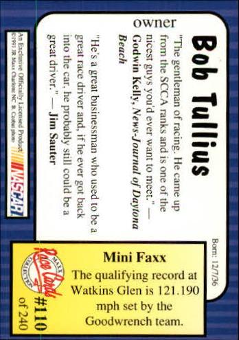 1991-Maxx-Auto-Racing-Cards-1-240-Rookies-A2705-You-Pick-10-FREE-SHIP thumbnail 221