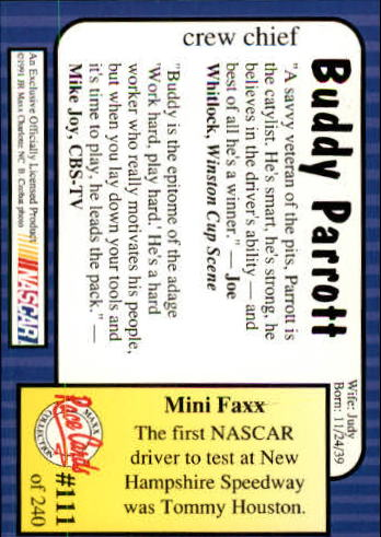 1991-Maxx-Auto-Racing-Cards-1-240-Rookies-A2705-You-Pick-10-FREE-SHIP thumbnail 223