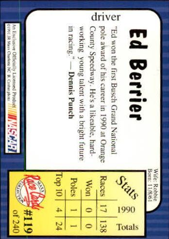 1991-Maxx-Auto-Racing-Cards-1-240-Rookies-A2705-You-Pick-10-FREE-SHIP thumbnail 238