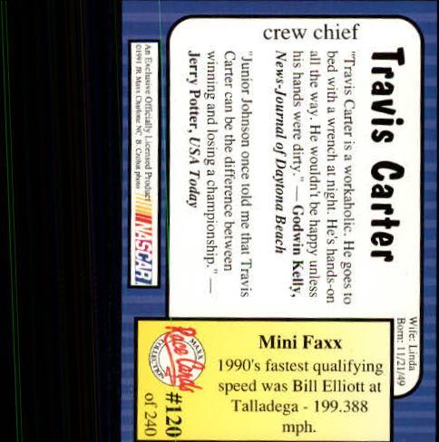 1991-Maxx-Auto-Racing-Cards-1-240-Rookies-A2705-You-Pick-10-FREE-SHIP thumbnail 240