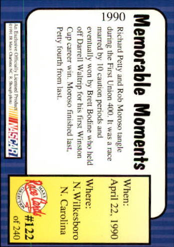 1991-Maxx-Auto-Racing-Cards-1-240-Rookies-A2705-You-Pick-10-FREE-SHIP thumbnail 244