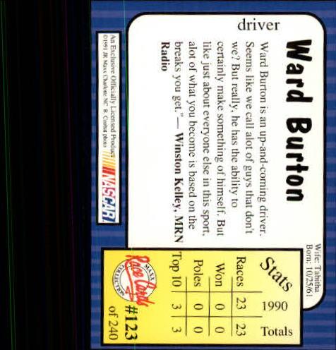 1991-Maxx-Auto-Racing-Cards-1-240-Rookies-A2705-You-Pick-10-FREE-SHIP thumbnail 246