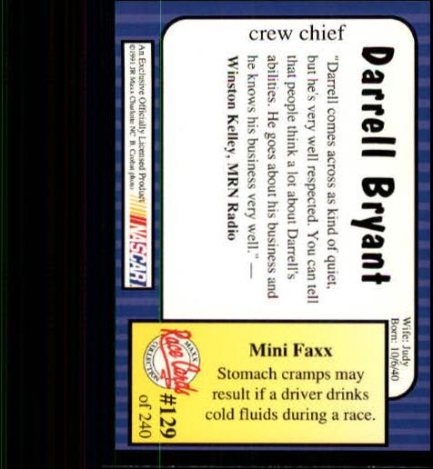 1991-Maxx-Auto-Racing-Cards-1-240-Rookies-A2705-You-Pick-10-FREE-SHIP thumbnail 258
