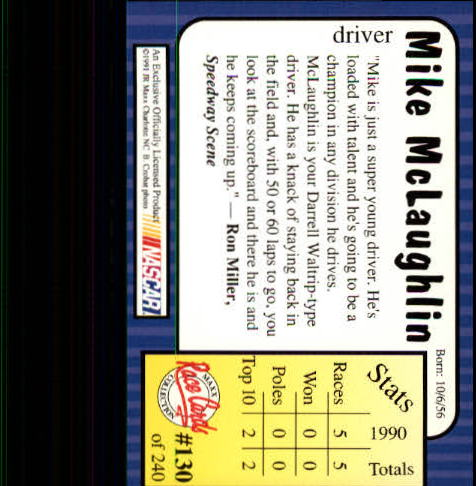 1991-Maxx-Auto-Racing-Cards-1-240-Rookies-A2705-You-Pick-10-FREE-SHIP thumbnail 260