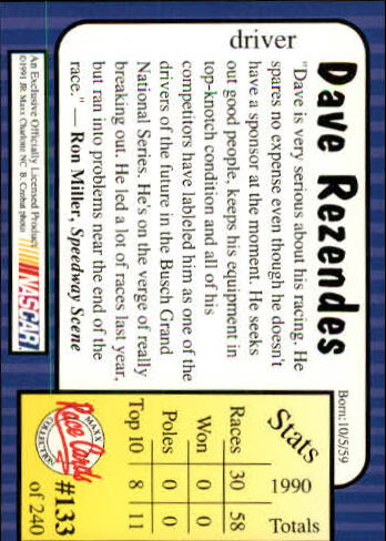 1991-Maxx-Auto-Racing-Cards-1-240-Rookies-A2705-You-Pick-10-FREE-SHIP thumbnail 266
