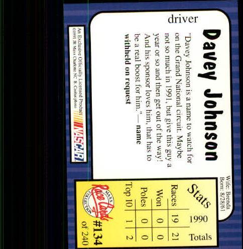 1991-Maxx-Auto-Racing-Cards-1-240-Rookies-A2705-You-Pick-10-FREE-SHIP thumbnail 268