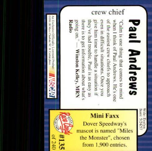 1991-Maxx-Auto-Racing-Cards-1-240-Rookies-A2705-You-Pick-10-FREE-SHIP thumbnail 270