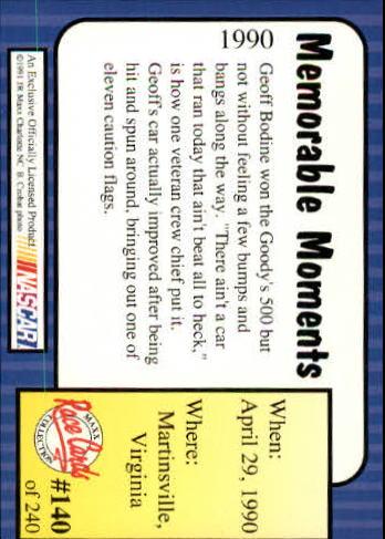 1991-Maxx-Auto-Racing-Cards-1-240-Rookies-A2705-You-Pick-10-FREE-SHIP thumbnail 280
