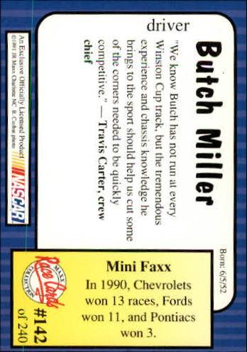 1991-Maxx-Auto-Racing-Cards-1-240-Rookies-A2705-You-Pick-10-FREE-SHIP thumbnail 284