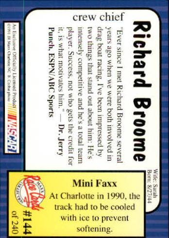 1991-Maxx-Auto-Racing-Cards-1-240-Rookies-A2705-You-Pick-10-FREE-SHIP thumbnail 288
