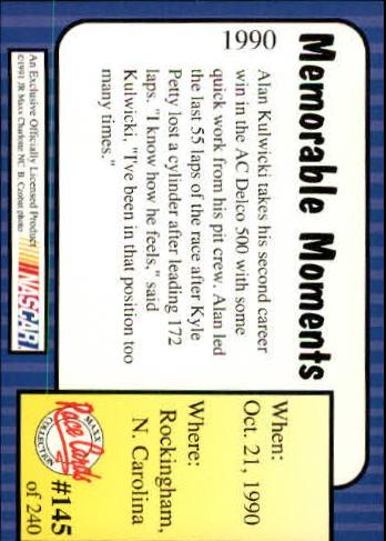 1991-Maxx-Auto-Racing-Cards-1-240-Rookies-A2705-You-Pick-10-FREE-SHIP thumbnail 290