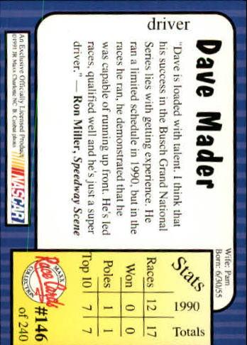 1991-Maxx-Auto-Racing-Cards-1-240-Rookies-A2705-You-Pick-10-FREE-SHIP thumbnail 292