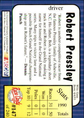 1991-Maxx-Auto-Racing-Cards-1-240-Rookies-A2705-You-Pick-10-FREE-SHIP thumbnail 294