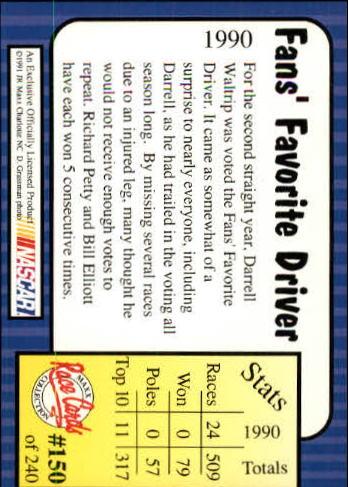 1991-Maxx-Auto-Racing-Cards-1-240-Rookies-A2705-You-Pick-10-FREE-SHIP thumbnail 300